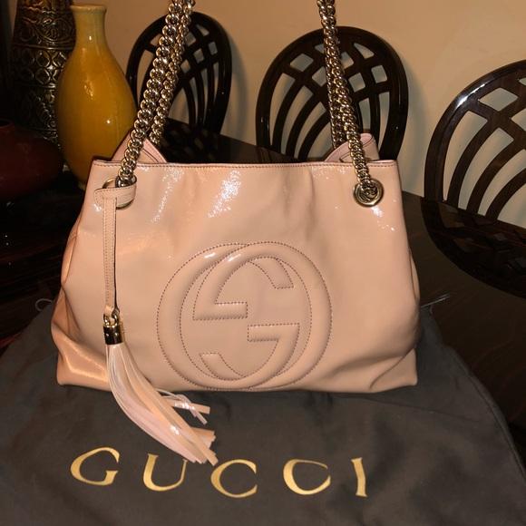 437438b37 Gucci Bags   Soho Patent Leather Shoulder Bag Pale Pink   Poshmark